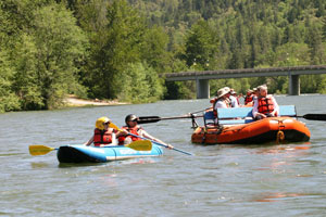 Fun for the whole family on the Rogue River Scenic Float Trip